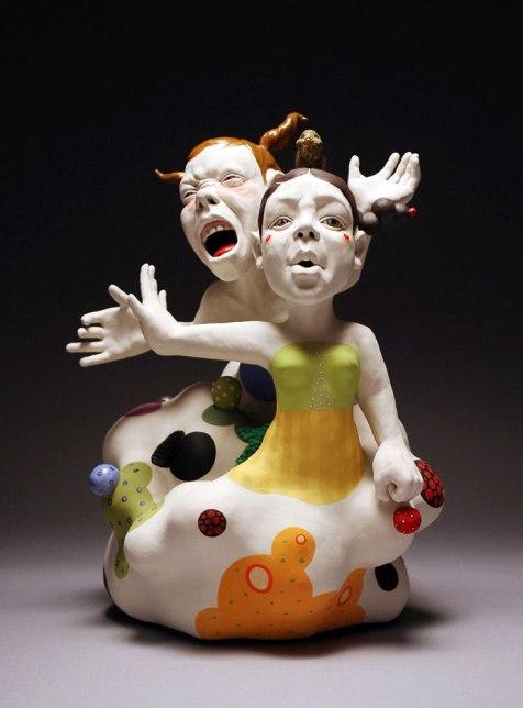 "2014, Porcelain, Under glaze, Glaze, Resin, 13""x14""23"""