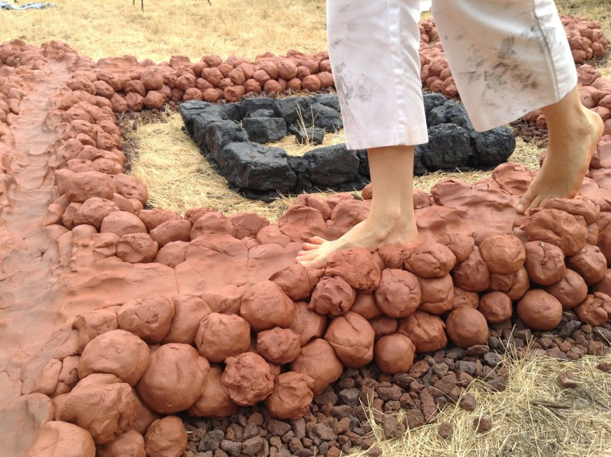 """Kristin Schimik, """"Infinity Loop Project - (walking on the soft wet clay path)"""""""