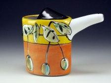 "Small Pour – Summer Leaves Meet Fall, Terracotta, 6.5L x 2.25W x 5""H, 2013"