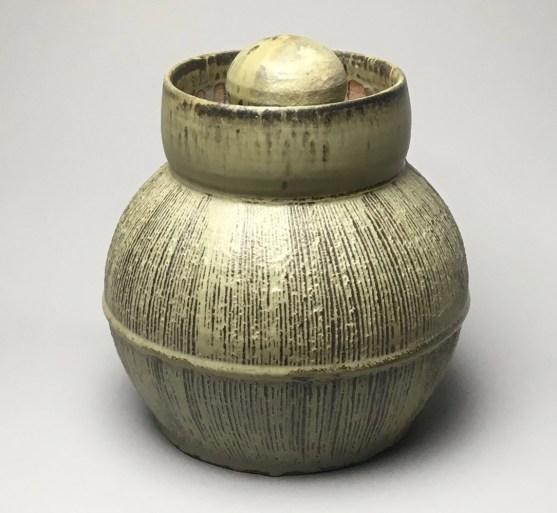 """H 11"""" X L 9.5"""" X W 9.5"""" Wood fired Stoneware"""