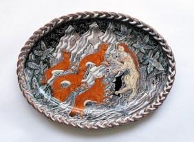 Tin-glazed earthenware, 26 inches across, 2016