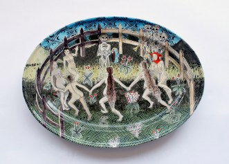 Tin-glazed earthenware, 25 inches across, 2015