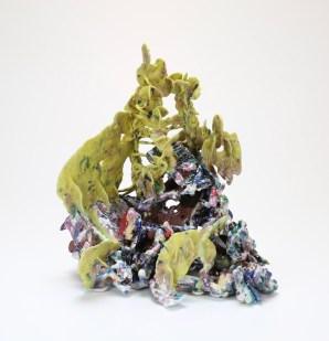 2018, 11x12x13, Ceramic materials fired to cone 01 ox.
