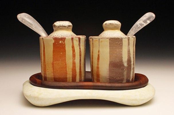 Ceramic, Black Walnut, Glass, 6x10x7, 2014