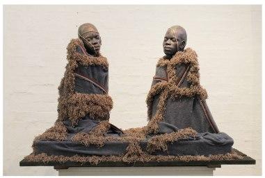Ceramic, wood, thread, plaster of paris, blanket and thread, 145cm x 71.5cm 94.5cm, 2014