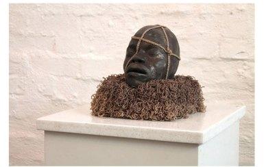 Ceramic, wood and thread, 20cm x 20c, x 25cm, 2014