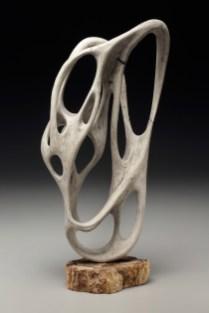 porcelain, petrified wood, 12 in x 7 in x 23.25 in, 2017