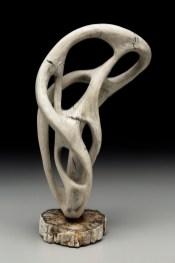 porcelain, petrified wood, 10 in x 8 in x 18.25 in, 2017