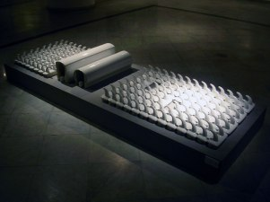 Ready made objects of sanitary ware, stoneware, 1250c, 200cm &80cm &25cm, 2006