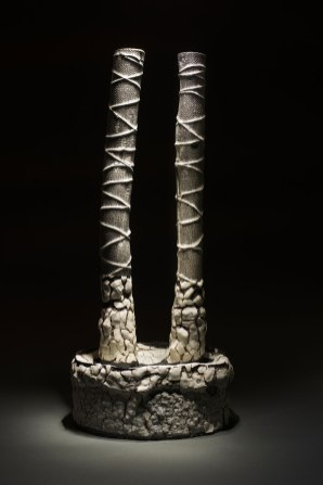 steel, personal clay. 1170C, 58 x 25 x 12cm