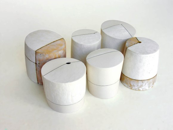 9 x 19 x 28 cm, stoneware, porcelain, glaze, electric firing, 2009