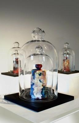 "12"" x 12"" x 16"", Earthenware, glass, 2015"
