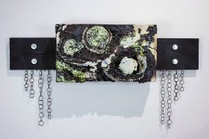 """porcelain, wood, metal, & ceramic materials, 2017, 10"""" x 36"""" x 5"""""""