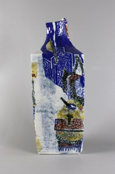 decal paper with cobalt pigment on porcelain vase, 50x18x17x18cm, 2016