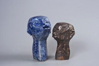 clay glazed, left 28x19x15cm right 22x16x14cm, 2016