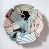 PAINTED PORCELAIN PLATE, YEAR 2013 H 50cm.