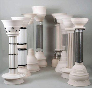 "porcelain, stainless steel, glass, 16""x52""x12"", 2012"