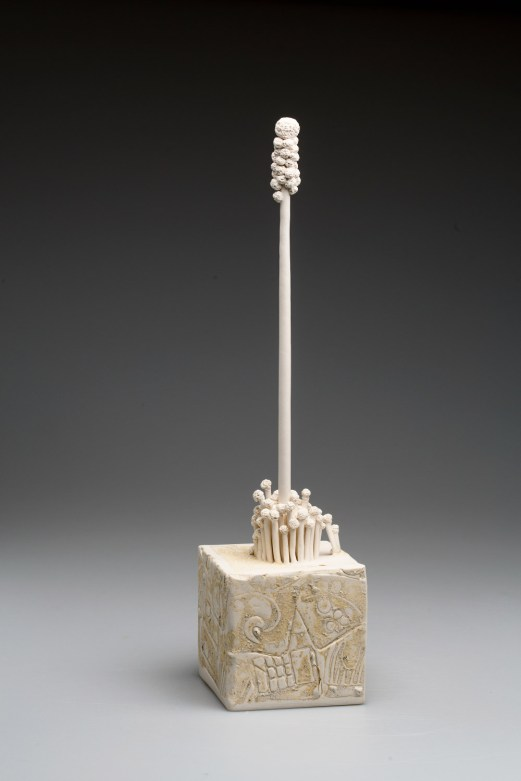 2018, Porcelain, clay from Mitzpe Ramon, Israel, H450 x W105 x D105 mm