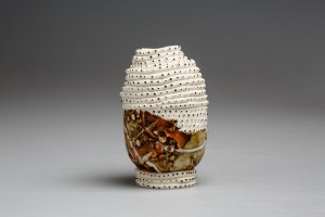 2018, Porcelain, clay from Monaro Plains, New South Wales, Australia, H110 x W65 x D65 mm
