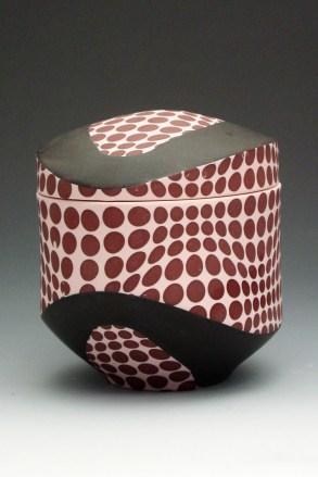 """porcelain & glaze with laser transfers, cone 10, 8"""" x 7"""" x 5"""""""