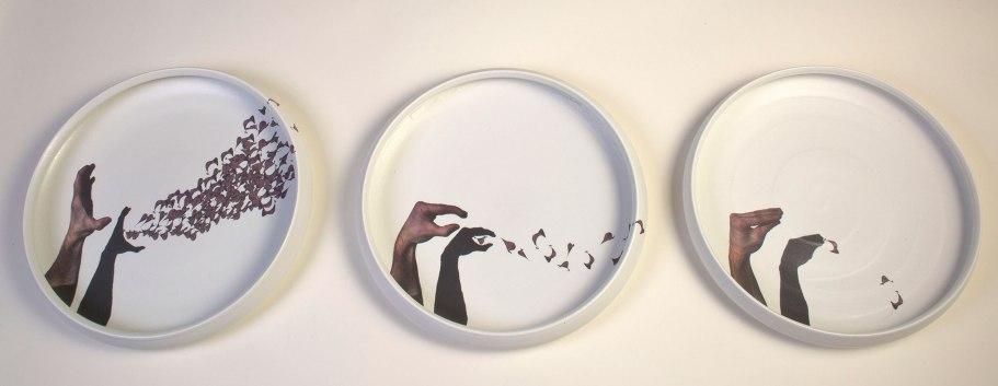 "Porcelain, Decal, 12""h x 3'w x 3""d"