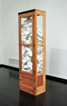 """80""""x25""""x15"""", Clay, Wood, Glass, 2015"""