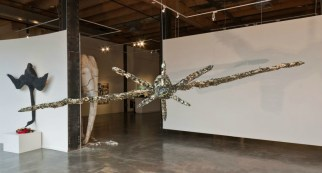 "Nichrome, porcelain, oxides, glaze, steel, 36"" x 96"" x 191"", Photo: Molly Addington"
