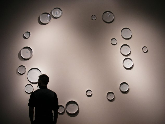 Installation. Porcelain with accent glaze. 20'x20', Photo Credit Mataya Armstrong