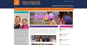 Auburn University website screenshot for News page
