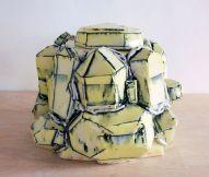 2013, Porcelain, Underglaze, Mason Stain, Cone 6, 6.5x6x5.5