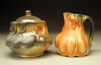Porcelain, Soda fired with flashing slip