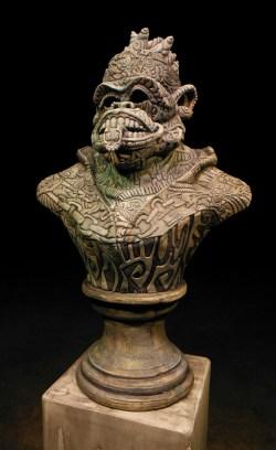 """34""""x 21""""x 17"""", ceramic, metal, wood, foam and epoxy, 2014"""