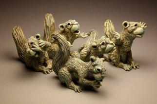 """15""""x 10""""x 45"""", ceramic, 2011"""