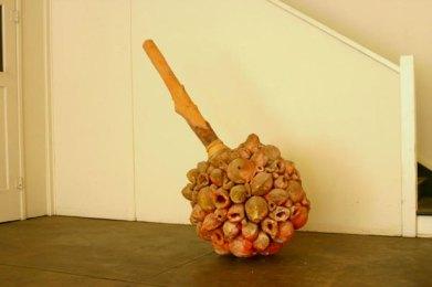 Segmented Ceramic, Wood, Leather, 2004