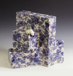 Blurriooo, 46 x 37 x 42, fired clay, glaze, decal, 2010