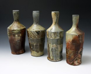 """Woodfired Stoneware, Approx: 3"""" x 7.75"""" to 3.5"""" x 8.5"""", 2016"""