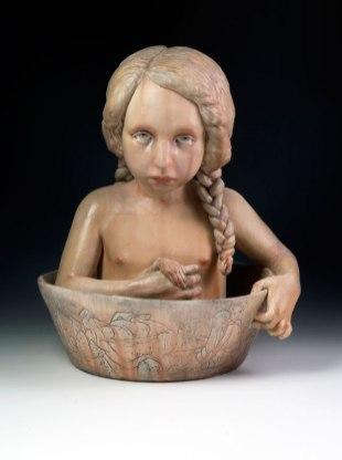 "2012, 16""H x 11""L x 12""D, Stoneware, resin"