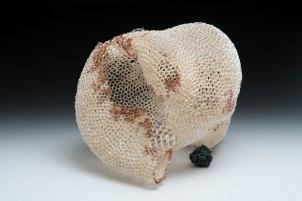 """Hand-built porcelain, copper paint, electroformed copper, 10"""" x 8"""" x 10"""", 2015"""