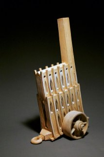"""2010, Unglazed hand-built ceramics, fired to cone 1 in reduction, 36""""x 15""""x 10"""""""