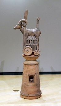 "2006, Unglazed hand-built ceramics, fired to cone 1 in reduction, 72""x 24""x 21"""