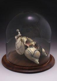"""Ceramic, Glaze, Wire, Pig Intestine, Wax, & Mixed Media, 10""""x10""""x10"""", 2013"""