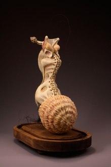 """Ceramic, Glaze, Wire, Pig Intestine, Wax, & Mixed Media, 18""""x13""""x7"""", 2013"""