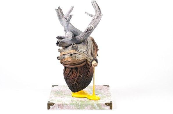 Ceramic, acrylic, wood base, archival print, cork, 20cm x 20cm x 34cm, 2016