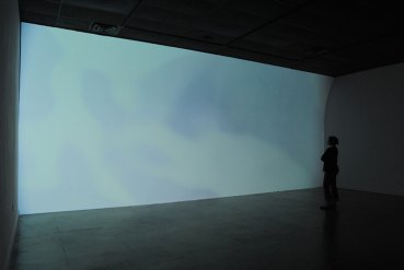 Between Frame and Focus, custom built wall, mapped video projection, Majestic Gallery, Nelsonville, OH