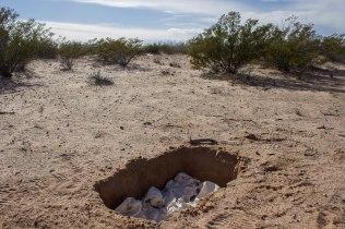 2016, Porcelain in desert near US/MX border