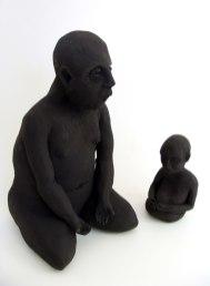 "Ceramic and Graphite, 10""x12""x4"", 2012"