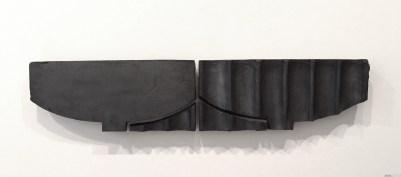 "earthenware; hand-built; under-glaze; glaze; cone 03; H. 11.5"" X W. 52"" X D. 3.5"""