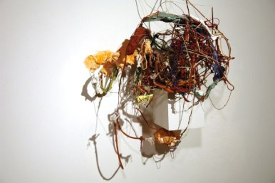 The Hubris of Apollo Creed, 2007, dimensions variable, terracotta, paint, glitter, plastic ornaments, wooden plinth