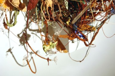 The Hubris of Apollo Creed (detail), 2007, terracotta, paint, glitter, plastic ornaments, wooden plinth