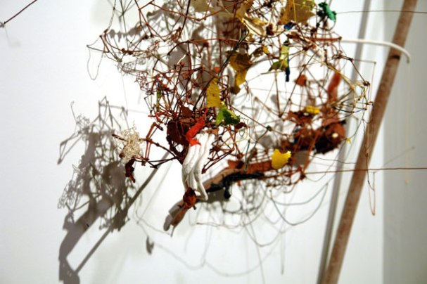 Rumination of Glitter and Glue, 2007, dimensions variable, terracotta, paint, glitter, glue